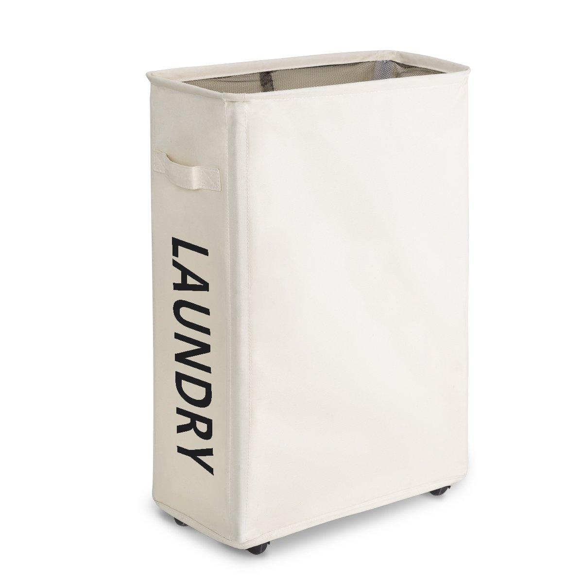 zero jet lag rolling slim laundry hamper with stand. Black Bedroom Furniture Sets. Home Design Ideas