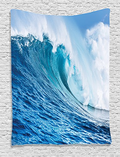 ambesonne-ocean-decor-collection-large-powerful-pacific-surf-sea-wave-crashes-hard-picture-print-bed