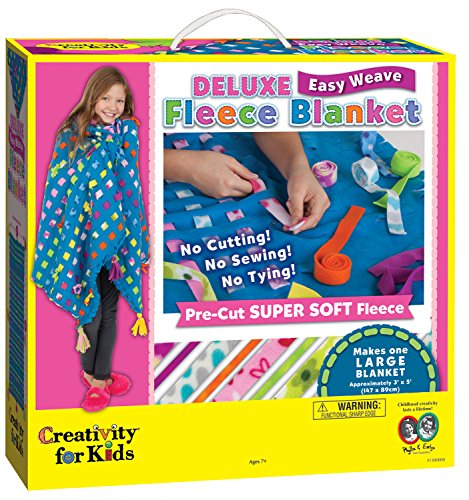 Creativity for Kids Deluxe Easy Weave Fleece Blanket Making Kit - Makes 1 No Sew Blanket