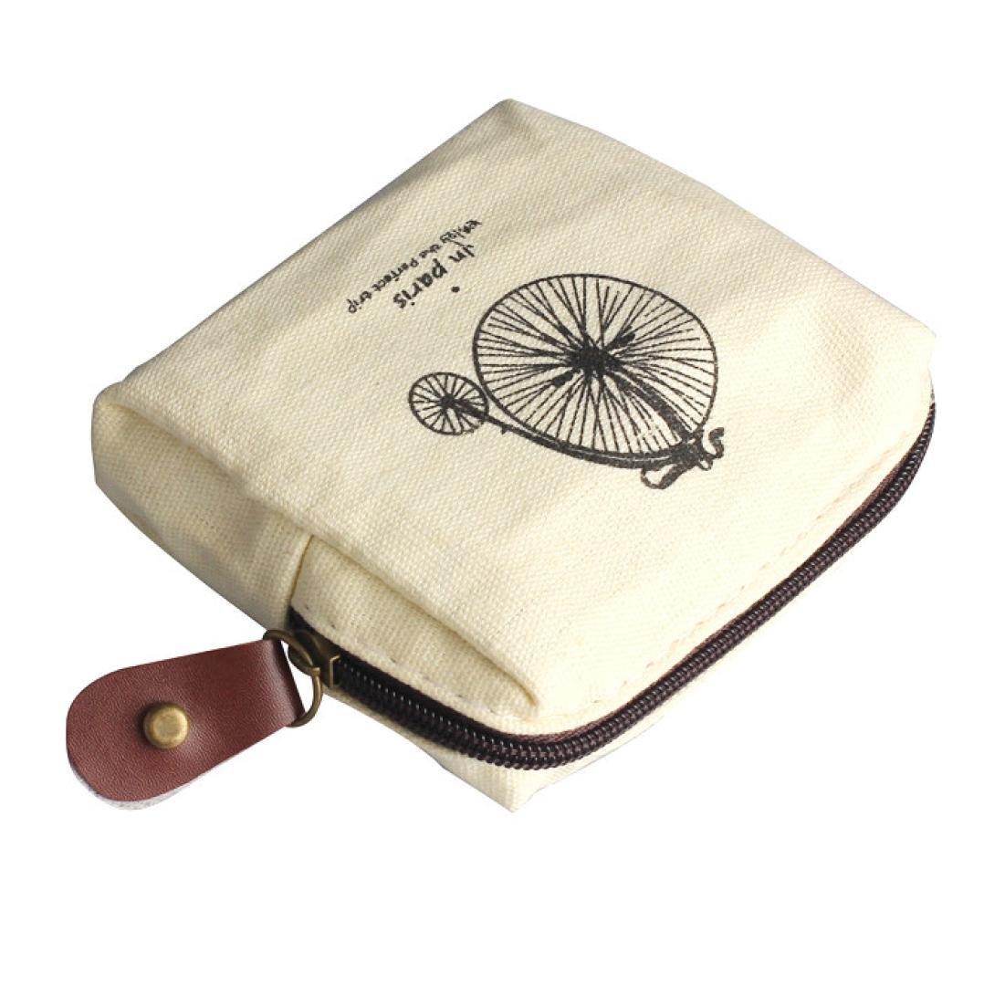 668736e1d194 Women Canvas Retro Small Mini Square Coin Purses Wallet Zipper Clutch Money  Pouch Bags (109.52.3 cm, Gray)