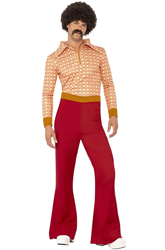 60s -70s  Men's Costumes : Hippie, Disco, Beatles 70s Cool Guy Disco Men Adult Costume $123.52 AT vintagedancer.com