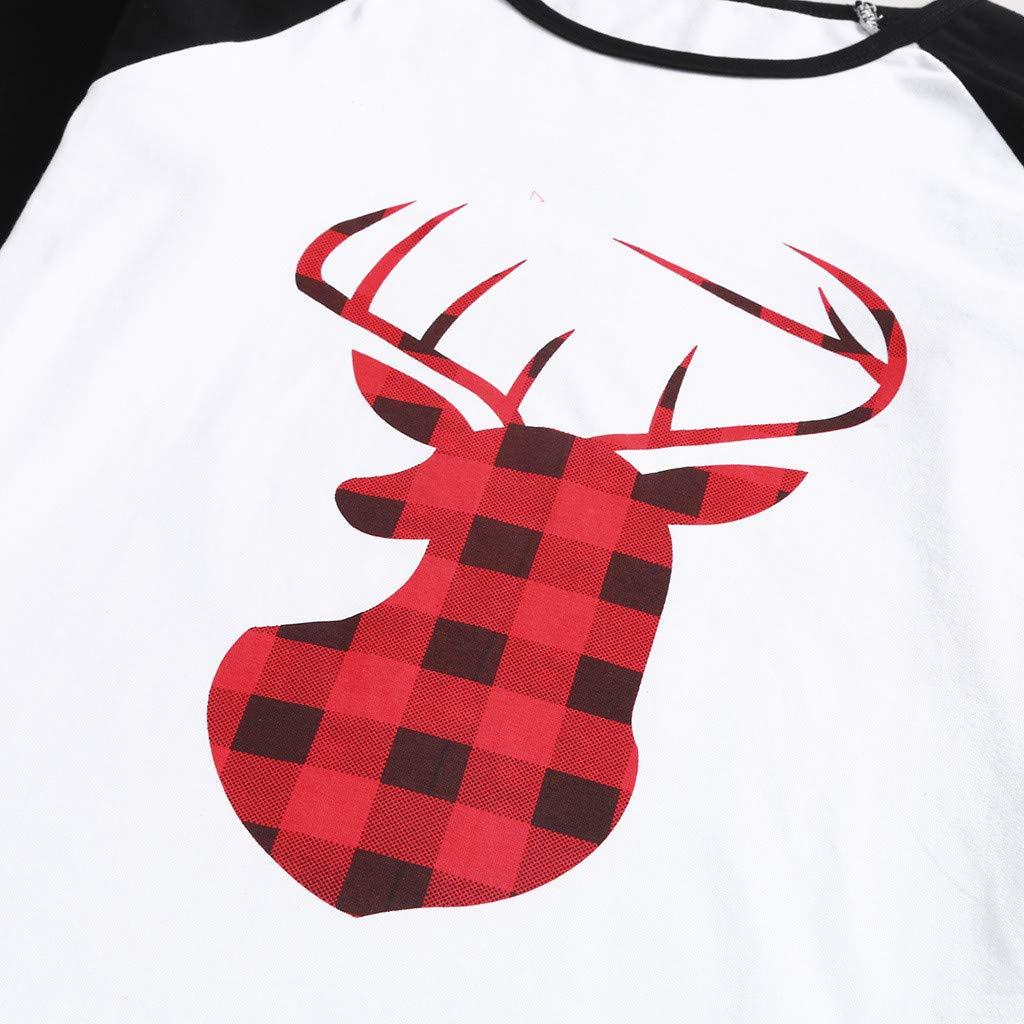 Winsummer Matching Family Christmas Pajamas Set Soft Cotton Clothes Sleepwear Long Sleeve Plaid Pjs for Women Men Kids