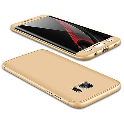 JMGoodstore Funda Galaxy S6 Edge,Carcasa Samsung S6 Edge,Funda 360 Grados Integral para Ambas Caras+Cristal Templado,[ 360°] 3 in 1 Slim Fit ...