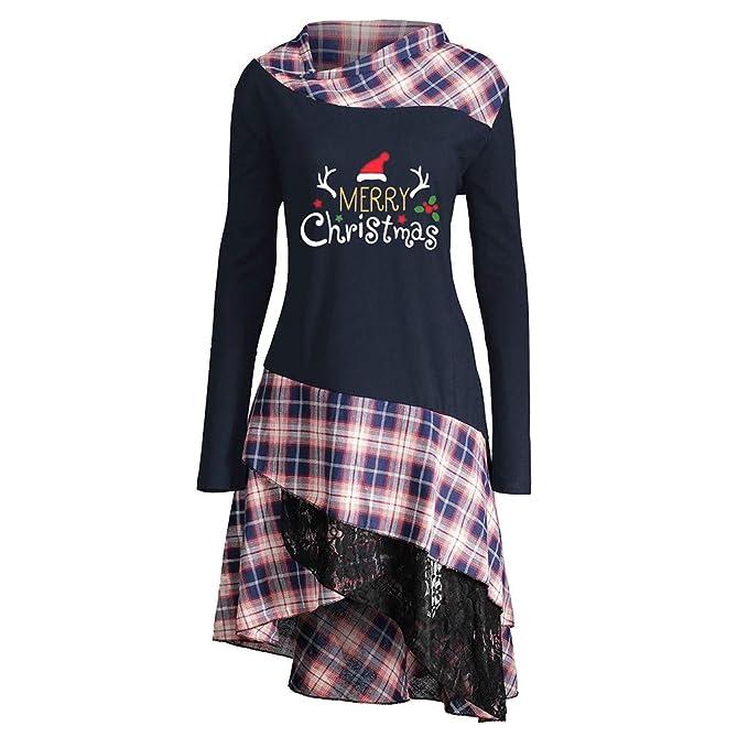Feytuo Mujeres Camisetas Impresas Navidad Sudaderas con Capucha de ...