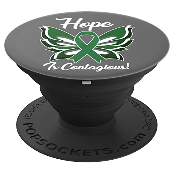 Amazon Liver Cancer Awareness Green Ribbon Butterfly