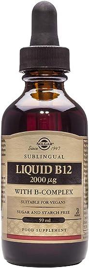 Solgar Vitamina B12 Líquida con B-Complex 2000 µg - 59 ml