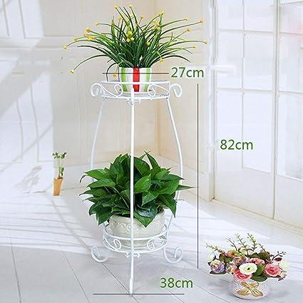 CLLCR Soporte de Flores para Interiores, Estante para Flores, Arte en Hierro Negro Estante para macetas ...