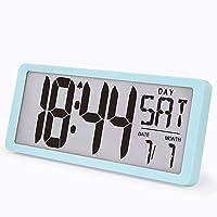 "TXL 15.4"" Jumbo LCD Digital Alarm Clock Extra Large Wall Clock Display 4.6"" Digits/Temperature/Calendar/Sport Timer…"