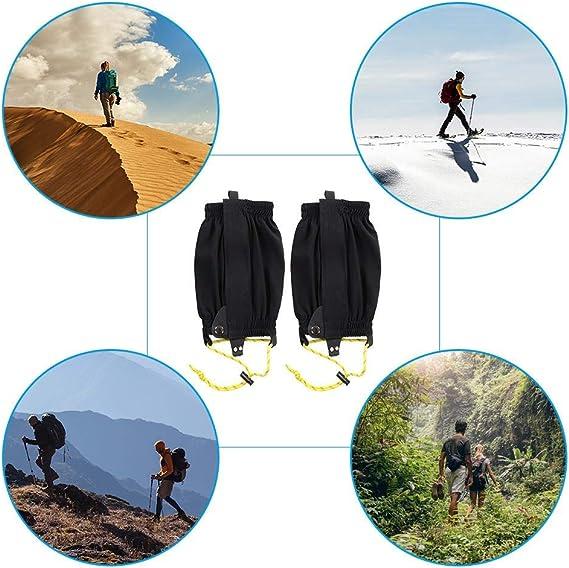 1 Par de Leggings Al Aire Libre Envolturas para Correr A Campo Traviesa Maletas para la Nieve El/ásticas Calzado Deportivo Dioche Polainas Impermeables