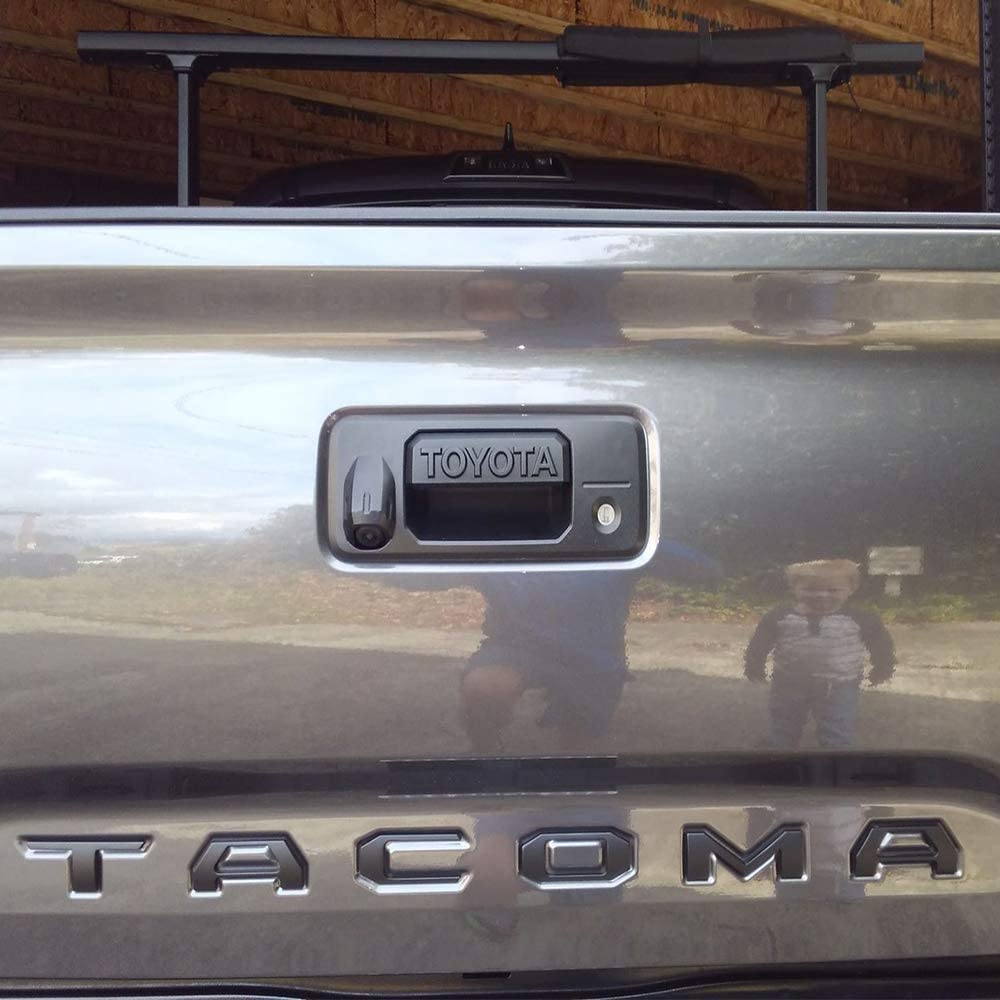 Toyota Tacoma Accessories Emblem Fits for Toyota Tacoma 2016-2019 Tailgate Insert 3D Metal Letters Not Decal Sticker Chrome