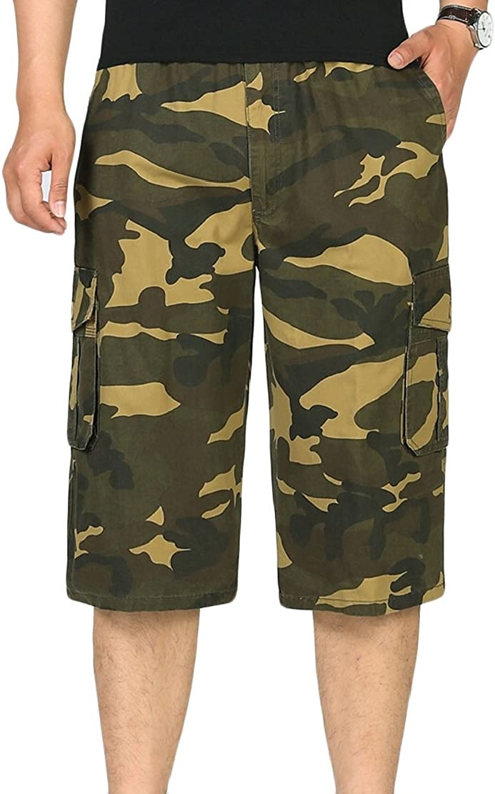 M/&S/&W Mens Outdoor Camouflage Shorts Multi Pockets Camo Cargo Shorts