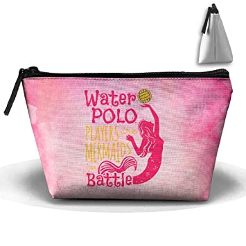 b22bf5fe09 Amazon.com   Water Polo Mermaids In Battle Pen Stationery Pencil Case  Cosmetic Makeup Bag Pouch   Beauty