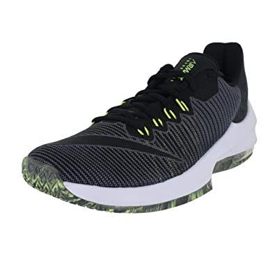 b22c413e96292 Nike Mens AIR MAX Infuriate 2 Low Dark Grey Black Volt Size 7.5