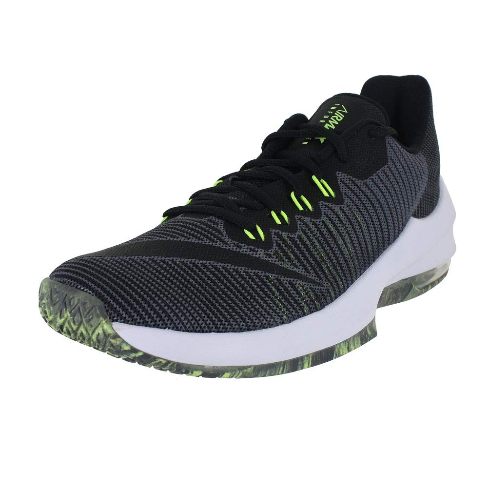 uk availability c2b14 fa75e Galleon - NIKE Mens AIR Max Infuriate 2 Low Dark Grey Black Volt Size 10.5