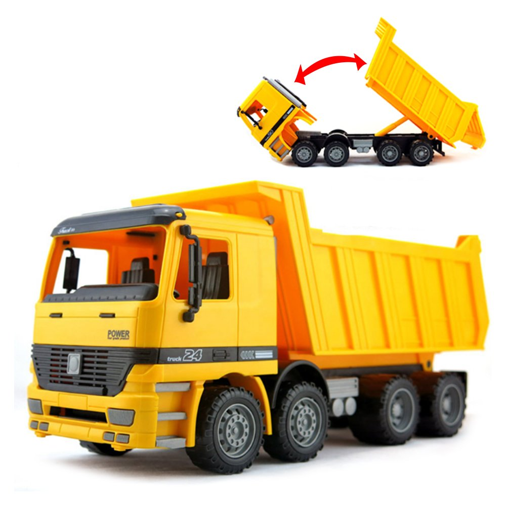 Liberty Imports 15'' Oversized Friction Dump Truck Construction Vehicle Toy for Kids