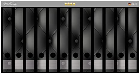 Wall Ario archivadores Pegatinas piel negra para puerta en Premium Calidad – Tamaño 36 x 30