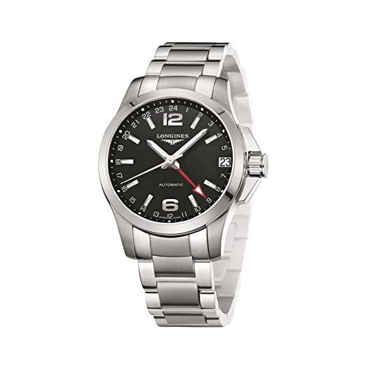 Reloj Longines Hombre l36874566 automático acero quandrante negro correa acero: Amazon.es: Relojes