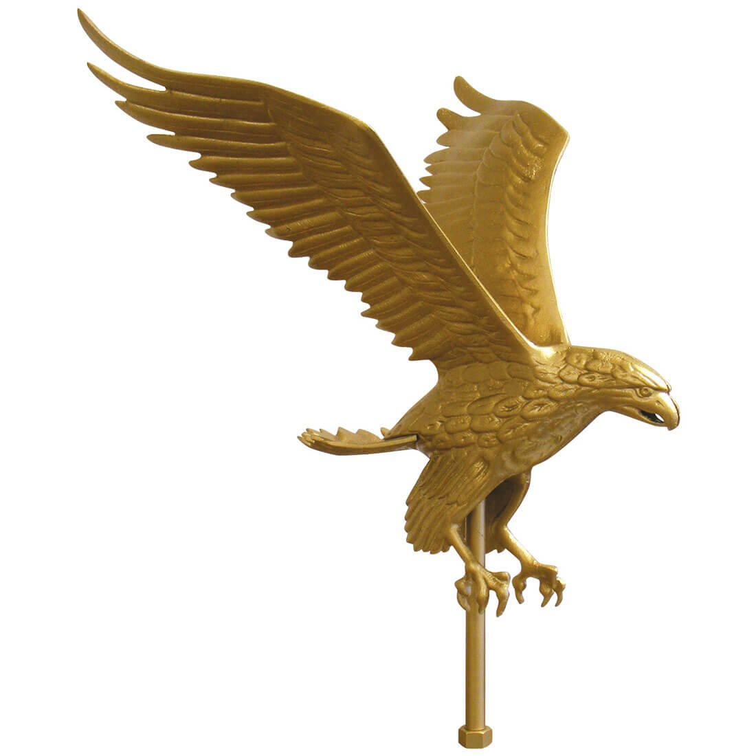 Gold Eagle Flagpole Ornament 12 in x 9-1/4 in aluminum (12 in.) by FlagandBanner (Image #1)