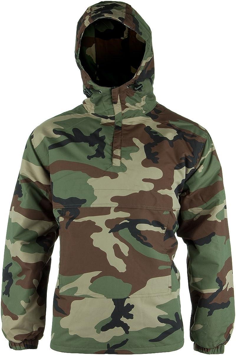 Pullover Smock Hooded Fleece Winter Windproof New Woodland Camo Combat Anorak