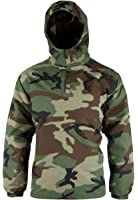 Woodland Camouflage Anorak with Hood