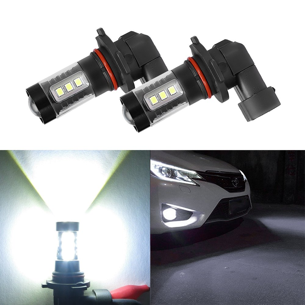 80W H11 High Power Fog Light Mesllin Extremely Super Bright Cree 16SMD LED Bulbs Tail Driving Lamp Replacement 6000K White
