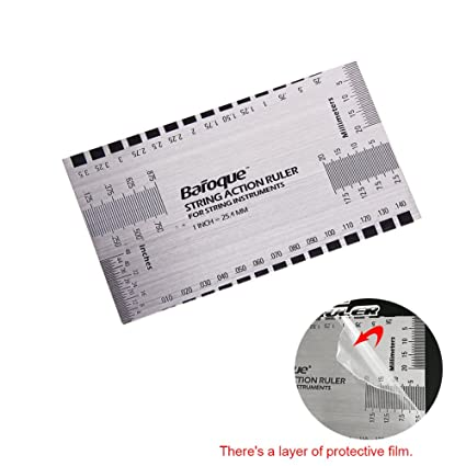 photo regarding String Action Gauge Printable referred to as String Phase Gauge Ruler Resource for Electrical B and: Amazon