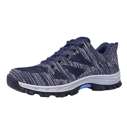 Zapatillas de Seguridad para Hombre - Ligeras Comodas Antideslizante Calzado de Trabajo Protegidos con Puntera de Acero Hombres Tamaño 35-45: Amazon.es: ...