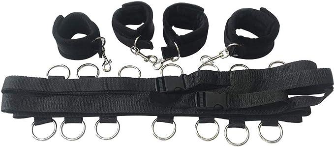 Nylon ex andcuffs BSDM ondage rotic sous le lit estraint Sangl/é verser Ouple ristes /& Menottes