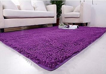 Ustide Soft Microfiber Carpet Contemporary Area Rugs Sitting Room/Bedroom  Carpets For Sale PURPLE 5