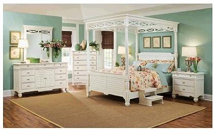 Amazon.com: Furniture Super Source Plantation Cove White 5 ...