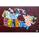 Canada License Plate Map Poster Print by Design Turnpike (36 x 24)