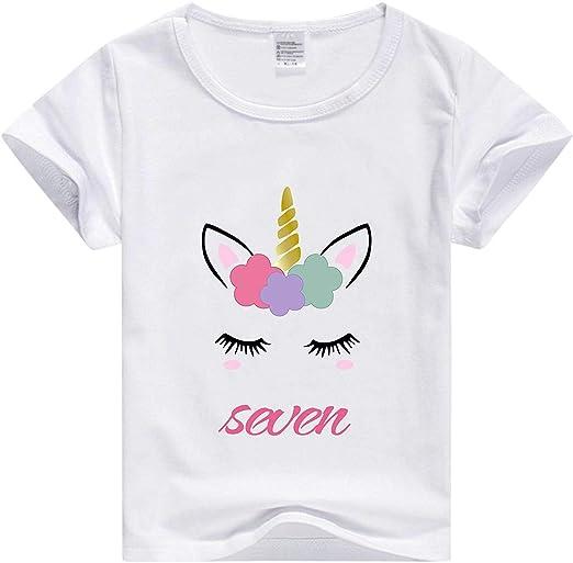 Amazon.com: Camiseta de unicornio para niña, camiseta de ...