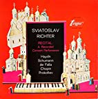 Sviatoslav Richter Recital Haydn Schumann de…
