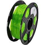 YOYI 1.75MM Flexible TPU Filament 1.75mm TPU 3D Printer Filament, Diameter Tolerance +/- 0.03 mm, 0.8 KG Spool, 1.75 mm (Green)