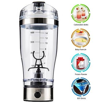 Comficent Agitador Eléctrico Proteínas Shaker Botella Batidora Portátil Recargable Mixer Botella Desmontable para Juegos Cócteles Café