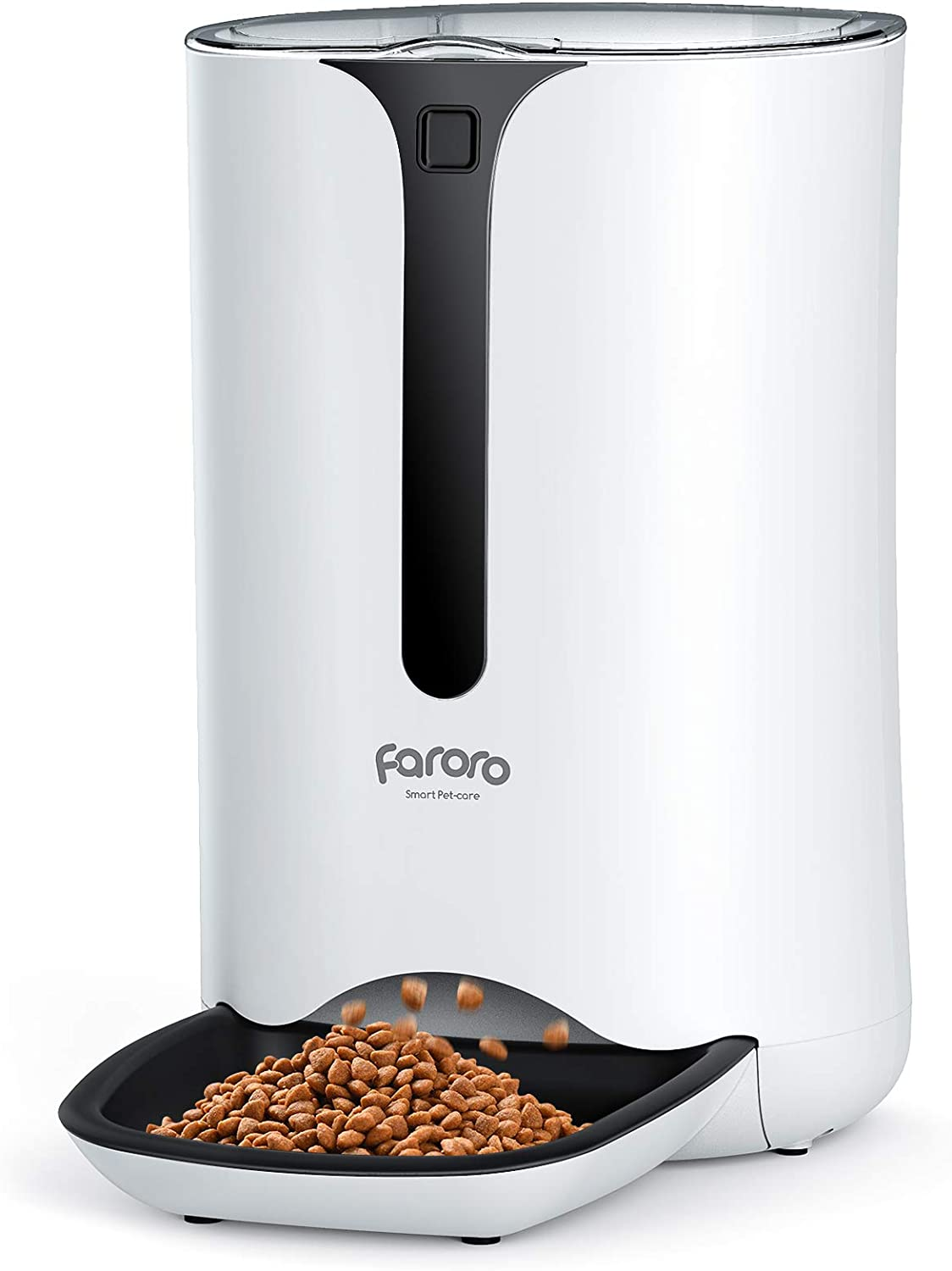 Faroro 7L Automatic Cat Feeder Dog and Cat Food Dispenser with Programmable Timer, Portion Control and Distribution Alarms for 4 Meals Per Day
