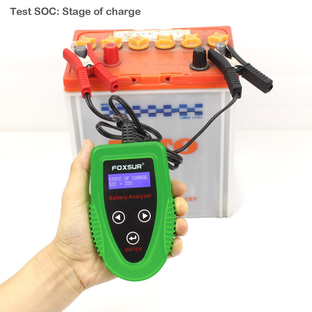 FOXSUR Digital 12V Car Battery Tester, Starting and Charging System Tester and Analyzer Of Battery Life ,IR,Voltage, Resistance and CCA Value For Flood, Gel, AGM, Deep Cycle Battery by FOXSUR (Image #9)