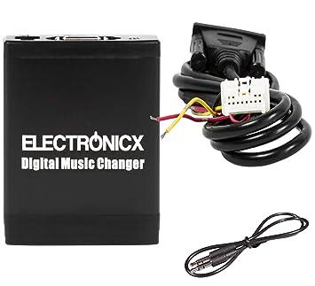 Electronicx® Adaptador de radio para coche USB SD AUX MP3 CD para Nissan Infiniti Almera Almera Tino Murano Navara Note Pathfinder: Amazon.es: Electrónica