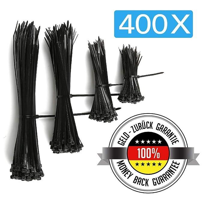 41 opinioni per Cofenzione da 400 Fascette fermacavi/stringicavo nere in nylon | 4 diverse
