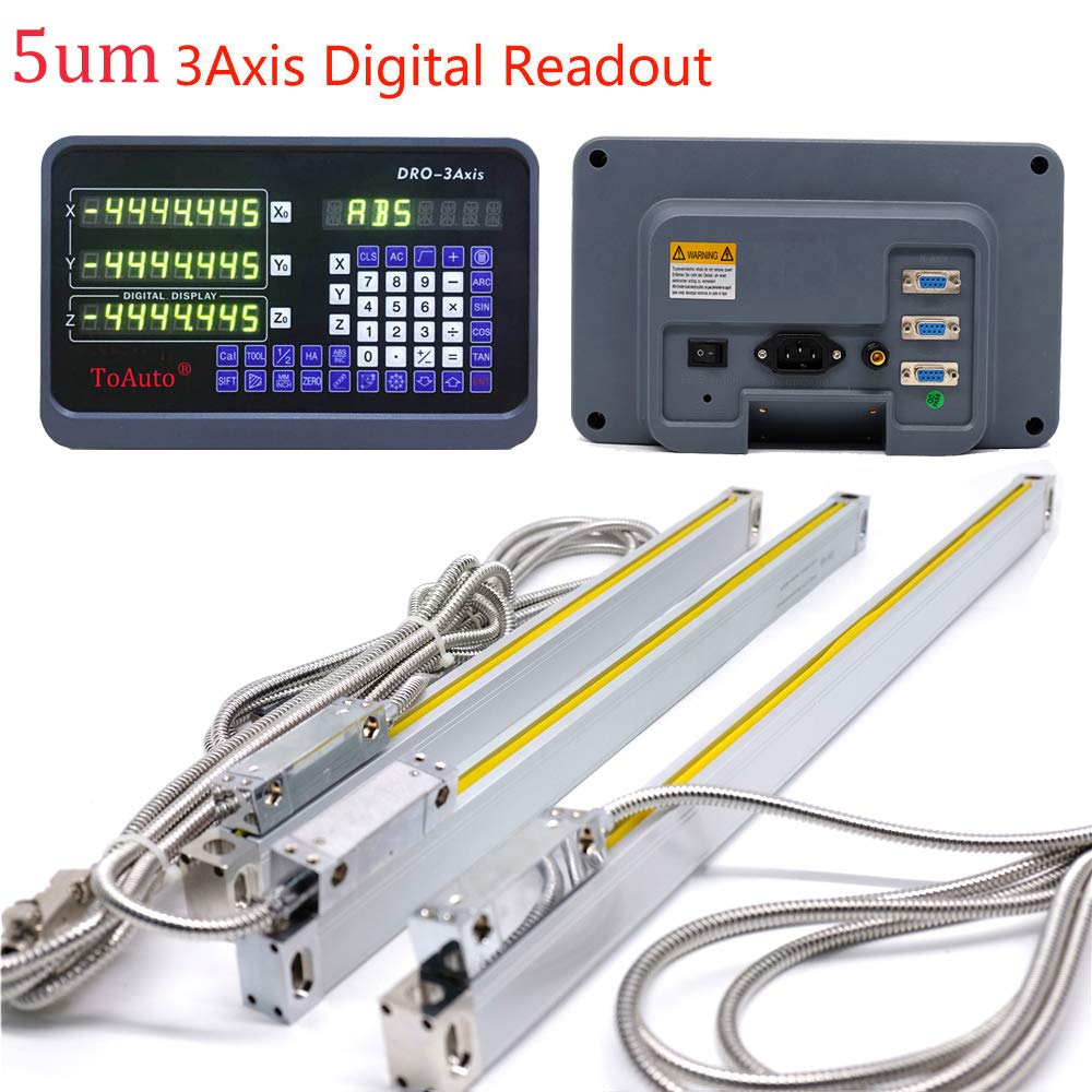 Toauto 3 Axis Digital Readout Dro Display 5um Precision Nixie Tube Clock Schematic Source Abuse Report Using Our Linear Scale 14 16 18 For Cnc Wire Cutting Machine 350mm 450mm 400mm Home