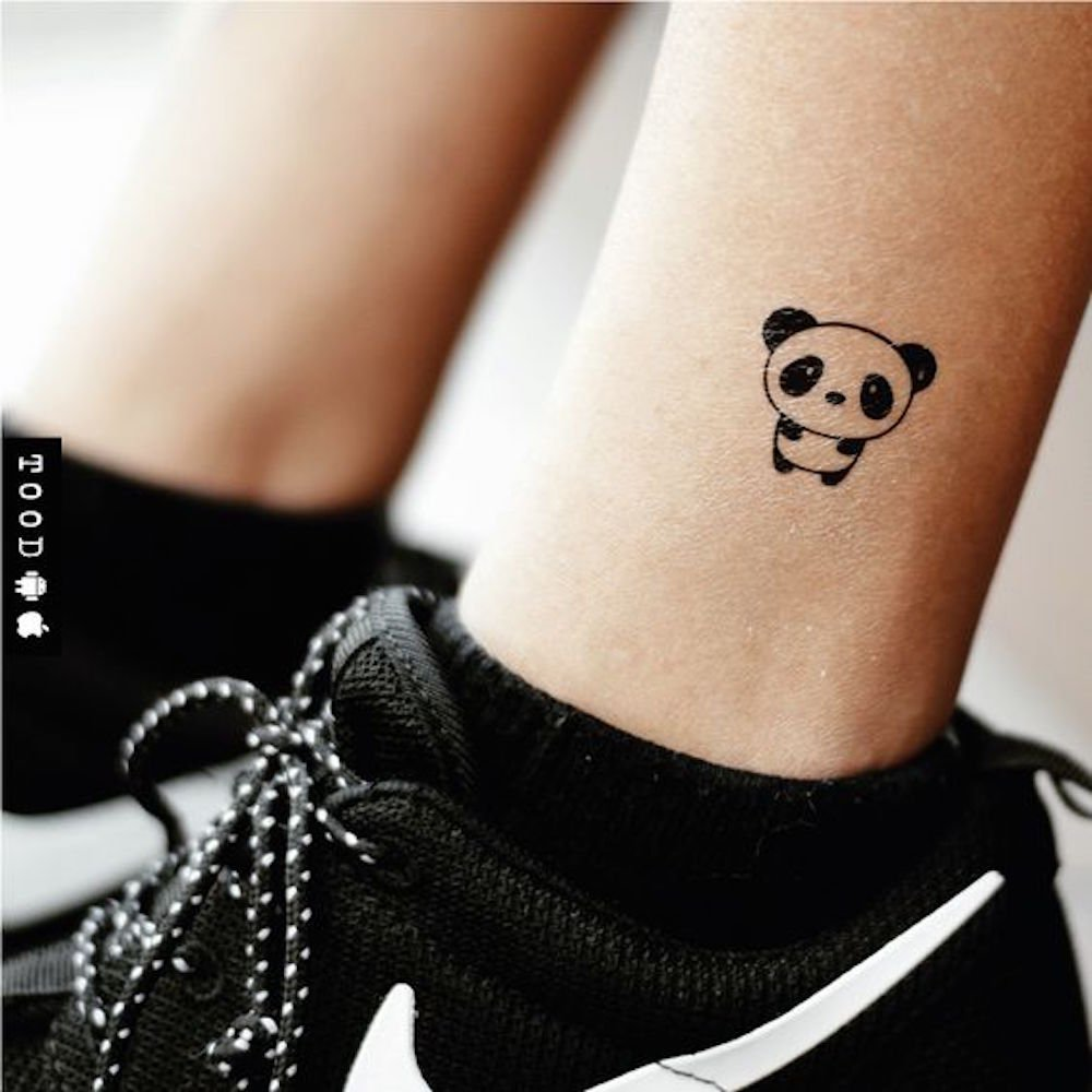 Tatuaje Temporal de Panda de dibujos animados lindo (2 Piezas ...