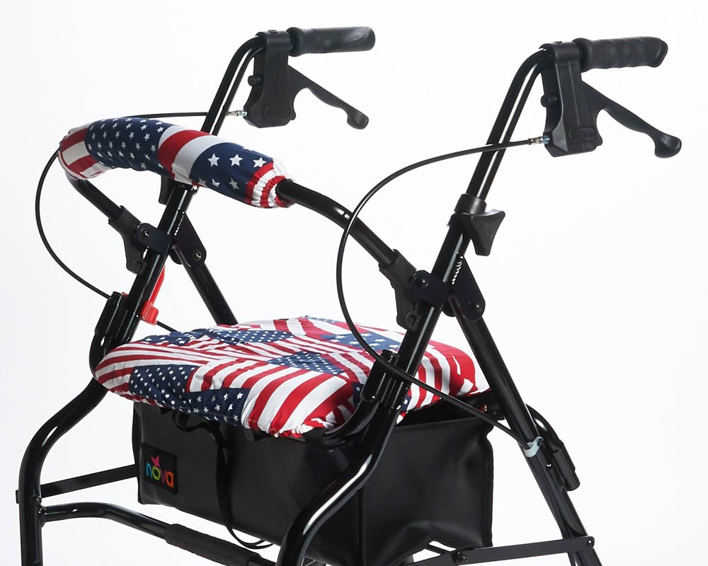 RMS Walker Seat & Rollbar Cover Set (US Flags) by RMS Royal Medical Solutions, Inc.