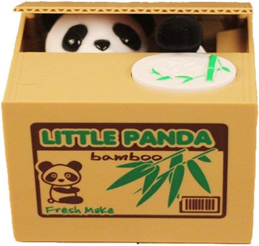 Resulzon Stealing Coin Panda Box – Piggy Bank – Panda Bear – English Speaking – Great Gift for Any Child