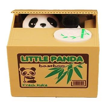 Toymio Juguete Robar Dinero Hucha de Gato Caja con Sonido Penny Ahorro Dinero Panda Caja Tarro (Panda): Amazon.es: Hogar