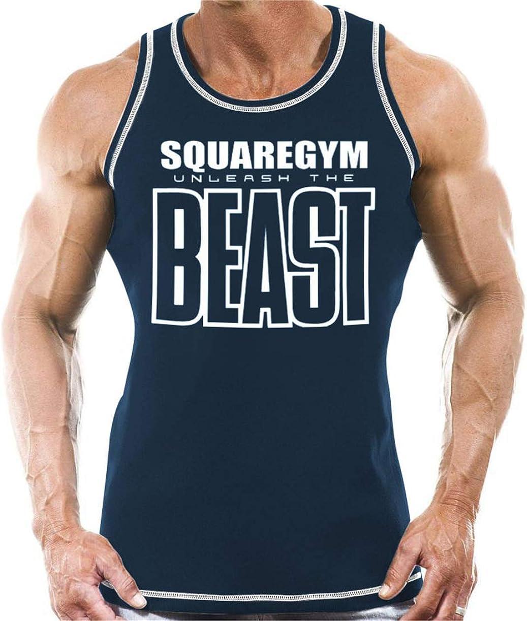 COWBI Uomo Tank Top Fitness Muscolare Magliette da Uomo,Casual Slim Fit T-Shirt Camicetta in Cotone