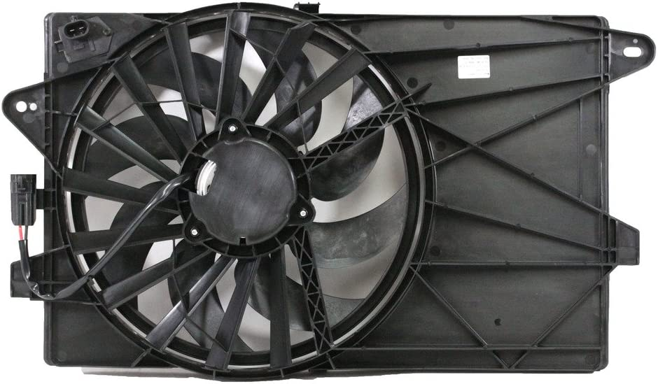 Dual Radiator and Condenser Fan Assembly - Cooling Direct For/Fit FI3115100 12-18 Fiat 500