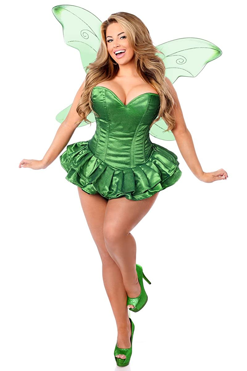 a8a12e8ab0 Amazon.com  Daisy corsets Women s Top Drawer 2 Pc Glitter Fairy Corset  Dress Costume  Clothing