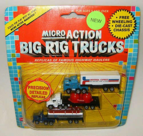 Micro Action Big Rig Trucks 3 Pack Collection #3 (Die Cast Cabover compare prices)