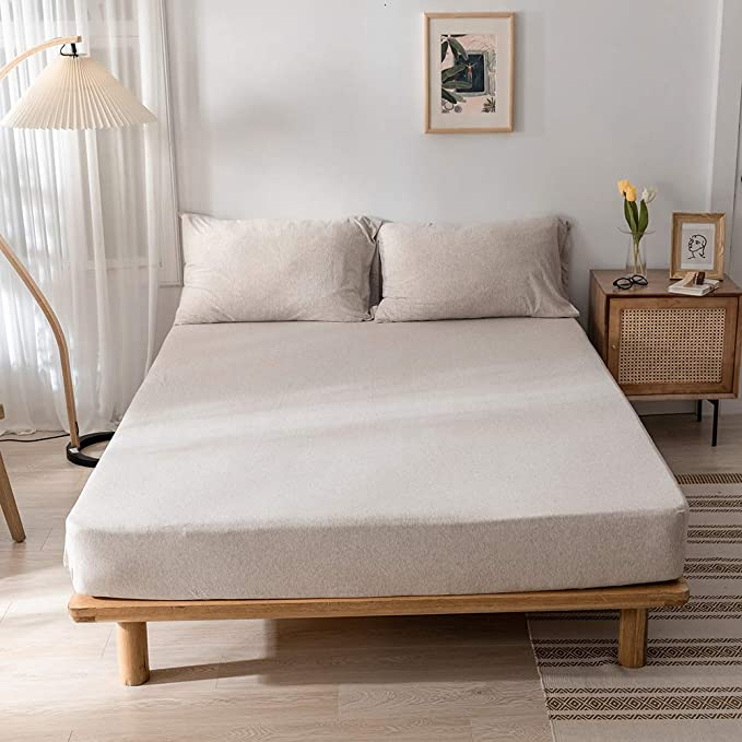 Sheets with angles in T-Shirt Cotton Jersey Extendable up to 200 x 200 CAC