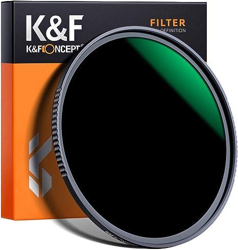 K&F Concept - Filtro para Objetivo ND 55 mm ND1000 (10 Pasos) (2Peak): Amazon.es: Electrónica